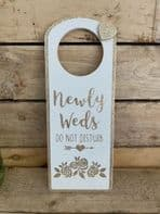 'Newly Weds Do Not Disturb' Door Hanger For Newly Married People...