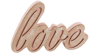 Beautiful And Stylish Chunky Wooden 'Love' Free Standing Sign / Ornament..