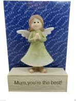 BOXED 'MUM YOU'RE THE BEST' CERAMIC ORNAMENTAL CERAMIC GIFT.....WAS £9.95
