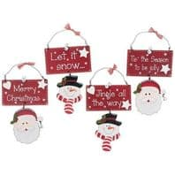 CHRISTMAS HANGING DECORATION CUTE SNOWMAN DANGLE LEGS BOXED 4 DIFFERENT DESIGNS.....