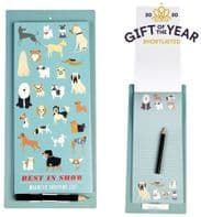 Dog Themed Large Magnetic Note Pad And Pencil. Great For Hanging On The Fridge Or Similar....
