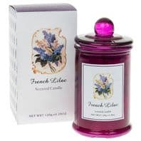 French Lilac Jar Scented Candle. Boxed Gift For Her.  120g  4.28oz...