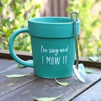 Gardener's Im sexy And I Mow It Novelty Mug And Spoon ....