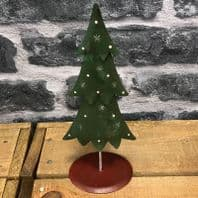 Green And Red Metal Christmas Tree. Great Christmas Decoration...