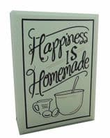 HAPPINESS IS HOMEMADE CHUNKY WOODEN HANGING SIGN GREAT GIFT