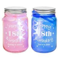 Light |Up 18th Birthday Jar. In Blue Or Pink...