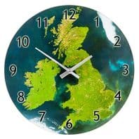 Map Of The U.K. Battery Operated Wall Clock...