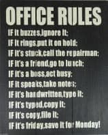 MENS DEN SIGN OFFICE RULES LARGE  WOODEN SHABBY CHIC SIGN BOXED GREAT GIFT DAD....