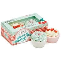Patisserie De Bain Cherry Pie Tartlettes Box Of 2 Scented Bath Melts Great Gift For Her..WAS £6.95