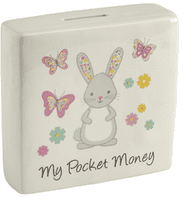 Really Cute 'Rosie Rabbit' Ceramic Children's Money Box...