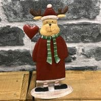 Red And Green Metal Reindeer Christmas Decoration 20cm ....