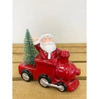 Santa On a Train with Christmas Tree. LED Lights Up, Battery Operated Great Christmas Decoration....