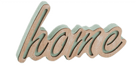 Stylish Chunky Wooden 'Home' Free Standing  Sign / Ornament.
