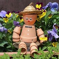 Terracotta Bill And Ben Style Flower Pot Man...