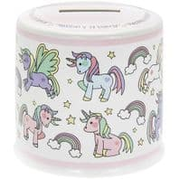 Unicorn Decorated Ceramic Money Box. Great Gift For Unicorn lovers...