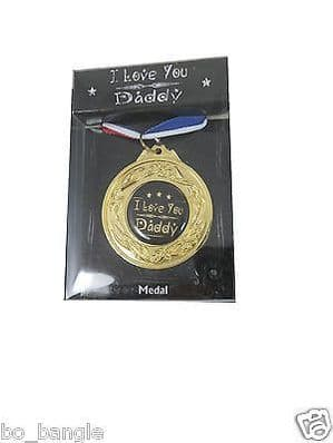 WORLDS BEST DAD MEDAL HERO DAD I LOVE YOU SUPER DAD BOXED GIFT FATHERS DAY..