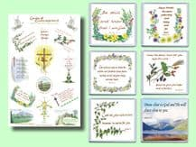 6 Coasters and Tea Towel - Set 1 (ACTT01)
