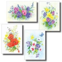 All 4 packs of Watercolour Notecards (EC319)