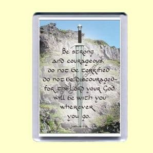 Fridge Magnet - Be strong and courageous (MJCP19)