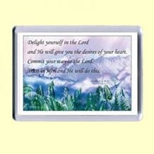 Fridge Magnet - Delight yourself in the LORD (MEL02)