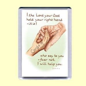 Fridge Magnet - Fear not, I will help you (MJCP14)