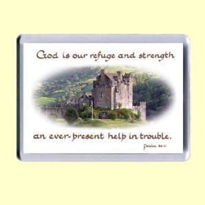 Fridge Magnet - God is our refuge and strength (MJCL09)
