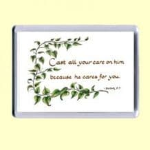 Fridge Magnet - He cares for you (MJCL35)