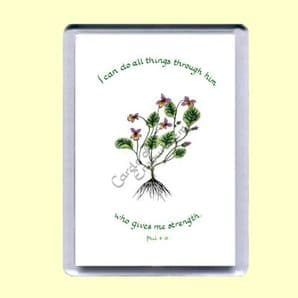 Fridge Magnet - I can do all things through Him (MJCP13)