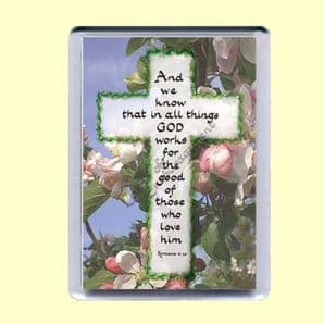 Fridge Magnet - In all things God works for the good (MJCP21)