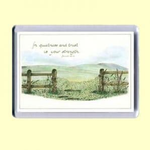 Fridge Magnet - In quietness and trust (MJCL05)