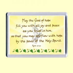 Fridge Magnet - May the God of hope (MJCL31)