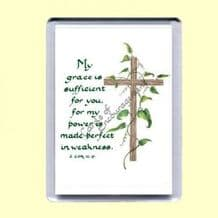 Fridge Magnet - My grace is sufficient (MJCP04)