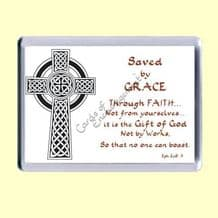 Fridge Magnet - Saved by grace (MJL39)