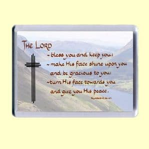 Fridge Magnet - The LORD bless you and keep you (MJCL01)