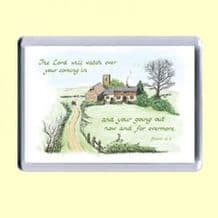 Fridge Magnet - The LORD will watch (MJCL27)