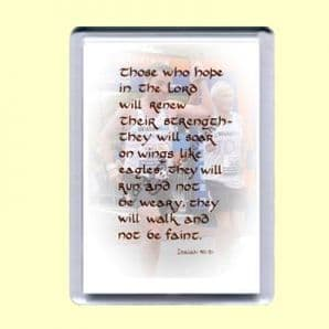 Fridge Magnet - Those who hope in the LORD (MJCP07)