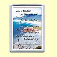 Fridge Magnet - Time is eternity (MJCP34)