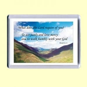 Fridge Magnet - What does the LORD require of you? (MPL03)