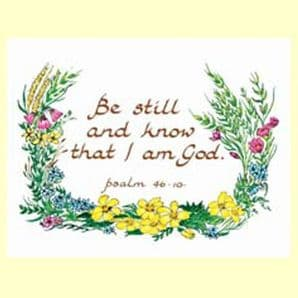 Pack of 10 Pocket Cards - Be still and know (PKTJCL03)