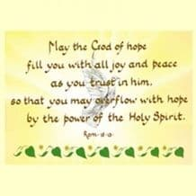 Pack of 10 Pocket Cards - May the God of hope (PKTJCL31)