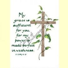 Pack of 10 Pocket Cards - My grace is sufficient (PKTJCP04)