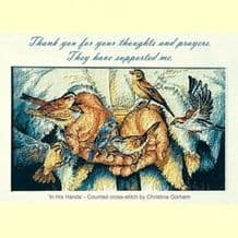 Pack of 10 Pocket Cards - Thank you... thoughts/prayers (PKTPL14)