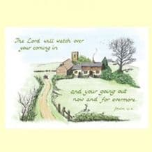 Pack of 10 Pocket Cards - The LORD will watch (PKTJCL27)