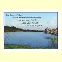 Pack of 10 Pocket Cards - The peace of God (PKTJCL34)