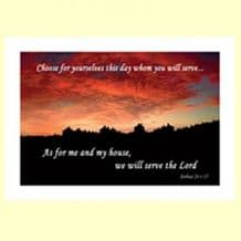 Pack of 10 Pocket Cards - We will serve the LORD (PKTJCL32)