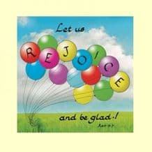 Pack of 10 Square Cards - Let us rejoice (ACC17)