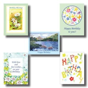 Set of Birthday Cards - Colourful Artwork (EC302) - SORRY - SOLD OUT