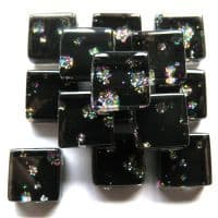 10mm Mini Glitter Tiles - Black Sequin - 50g