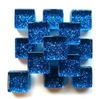 10mm Mini Glitter Tiles - Galaxy Blue - 50g