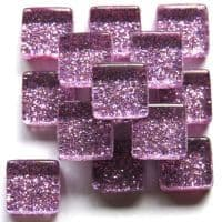 10mm Mini Glitter Tiles - Heliotrope - 50g